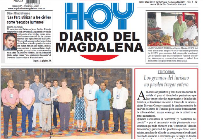 La portada del diario con la imagen alterada