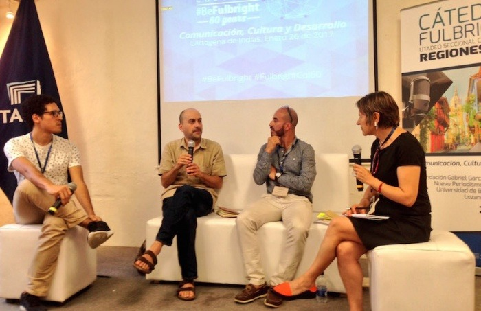Jorge Iván Caraballo, Hernando Álvarez, Germán Molina y Cristina Valdés.
