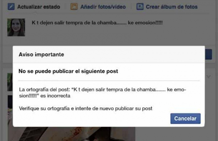 ¿Es cierto que Facebook cerrará tu cuenta si tienes mala ortografía?… ¡Responde el quiz semanal!