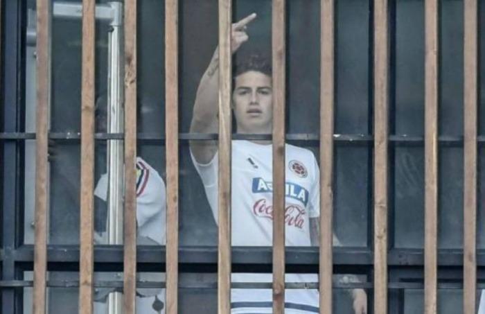El gesto de James. Fotografía: cortesía El Heraldo.