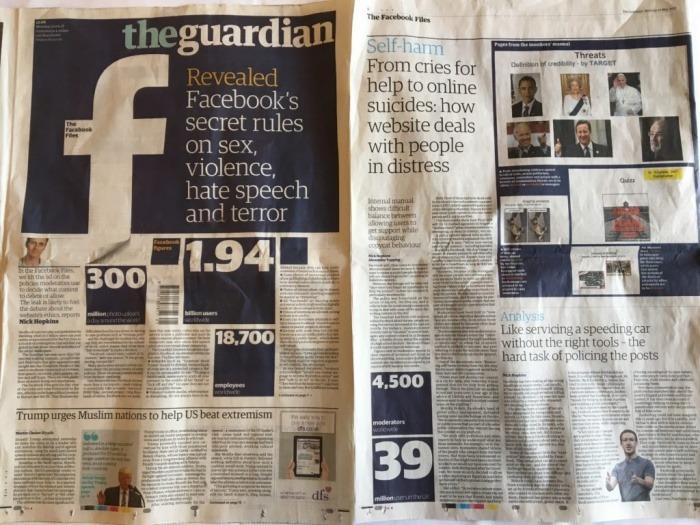 Portada de The Guardian con la exclusiva sobre Facebook | EJN