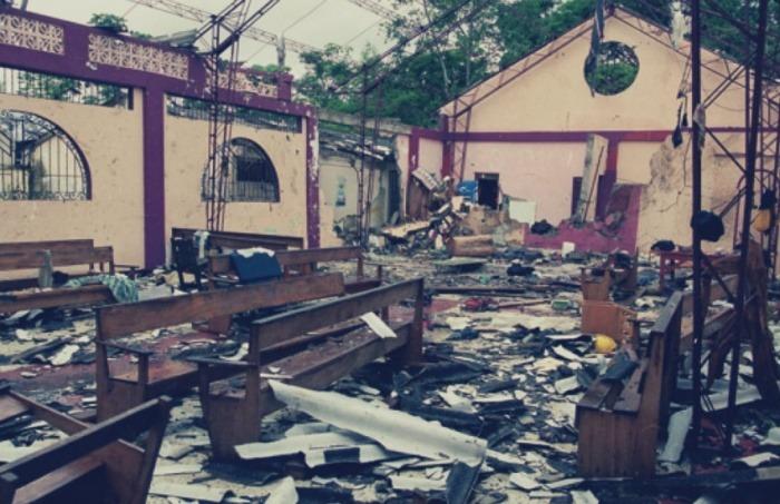 La iglesia de Bojayá, escenario de la masacre | Fotografía: bojayaunadecada.org
