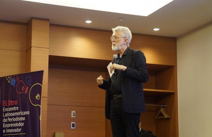 Jeff Jarvis dirige el Tow Knight Center para el Periodismo Emprendedor de la Universidad de Nueva York. Foto: Esther Vargas.