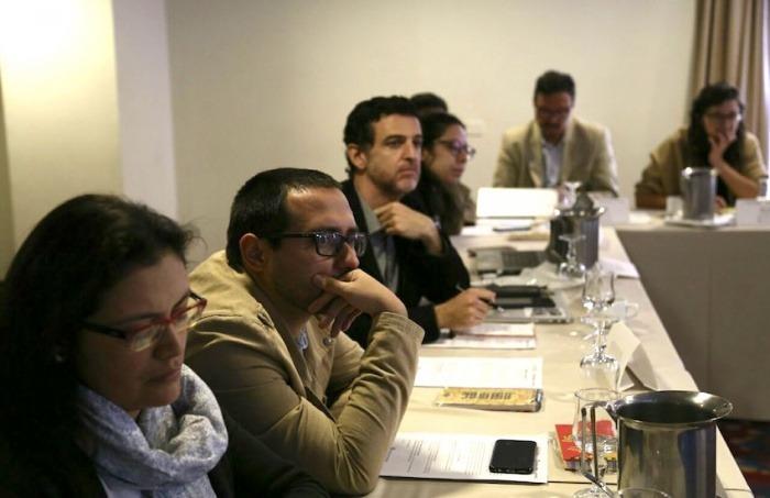15 periodistas económicos se reunieron en el Seminario Periodismo, Economía y Paz. Foto: Andrés Torres /FNPI.