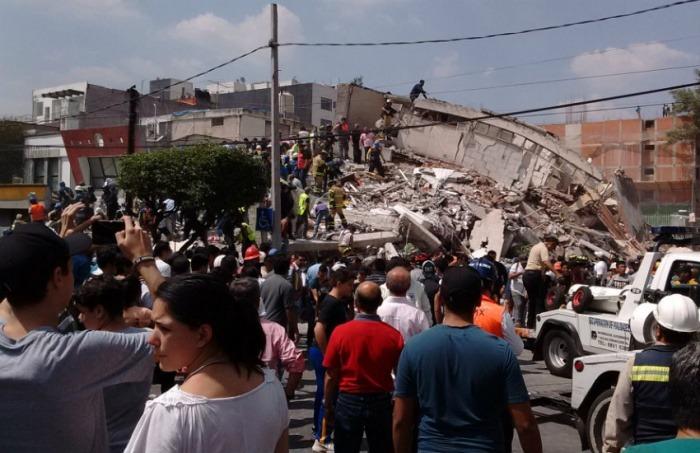 Terremoto 19/S Prolongación Petén 915 | Fotografía: Germán Gutiérrez en Flickr. Usada bajo licencia Creative Commons