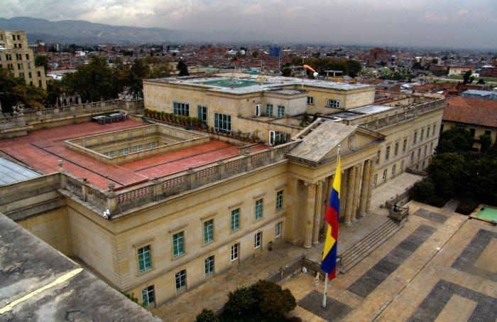 La Casa de Nariño, residencia presidencial en la capital colombiana. Fotografía: Miguel Olaya en Wikimedia Commons.
