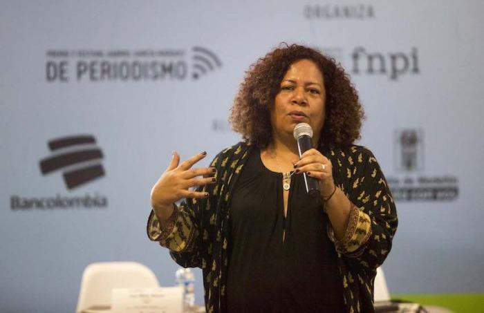 Luz Mely Reyes en el Festival Gabo 2017. Foto: David Estrada Larrañeta.