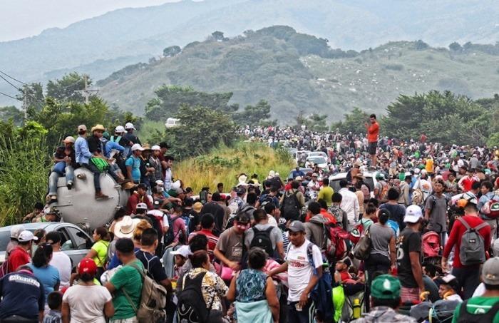 Caravana de migrantes en Centroamérica. Foto: Cortesía ONU.