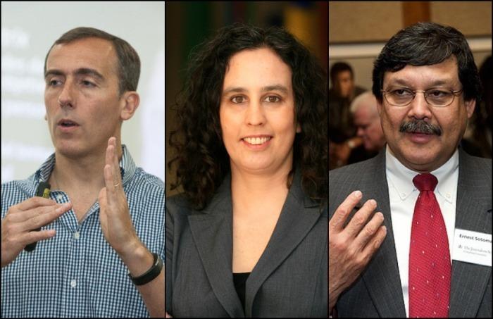 Hugo Alconada Mon, Francisca Skoknic y Ernest R. Sotomayor harán parte de la charla. Foto: Archivo FNPI y cortesía.
