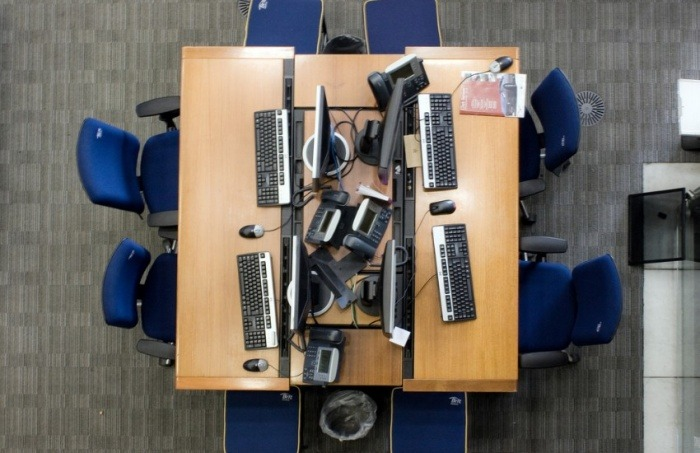 Salas de redacción cada vez más vacías, un escenario común en medios actualmente   Fotografía: Michael Duxbury en Flickr. Usada bajo licencia Creative Commons.