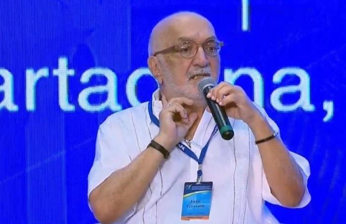 Juan Gossain durante su intervención ante la SIP. Fotografía: Noticias RCN.