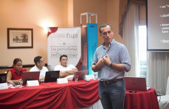 Hugo Alconada Mon, prosecretario de redacción de La Nación (Argentina). Foto: Emmanuel Upegui.