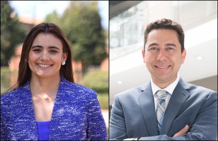Yahira Guzmán y Víctor García-Perdomo. Foto: Universidad de La Sabana.