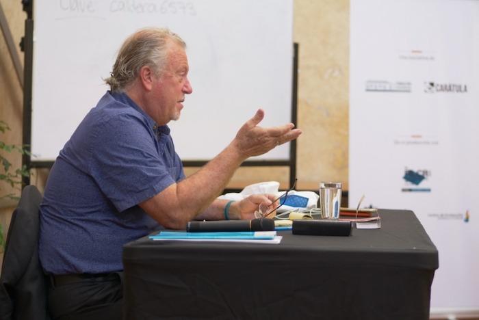 Jon Lee Anderson, reportero de The New Yorker y miembro del Consejo Rector de la FNPI. Foto: Cortesía Centroamérica Cuenta.