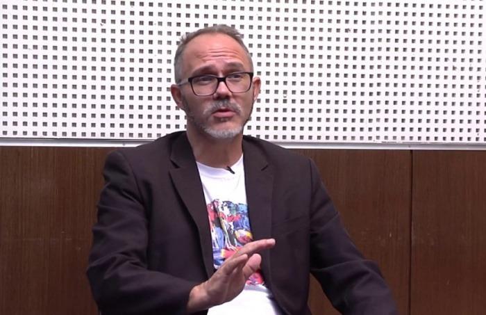 Rogério Christofoletti. Fotografía: Centro de Crítica da Mídia.