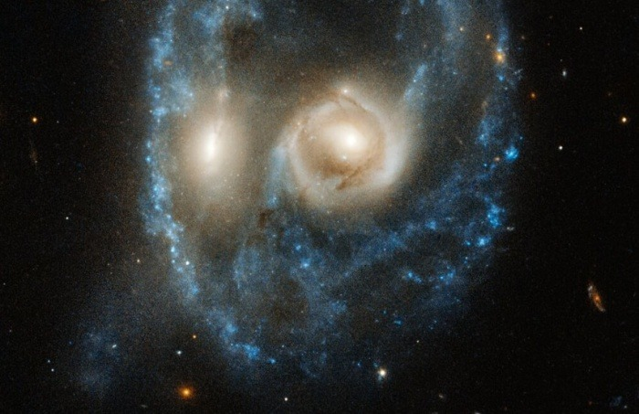 ¿Es real esta imagen de una calavera formada por la colisión de dos galaxias que publicó la NASA?... ¡Responde nuestro quiz de noticias!