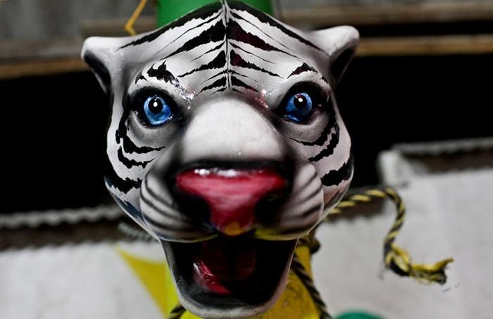 Una máscara en el taller grupal de Jose Llanos of the African Jungle en Galapa el 16 de enero de 2013. Joaquín Sarmiento/Archivo FNPI