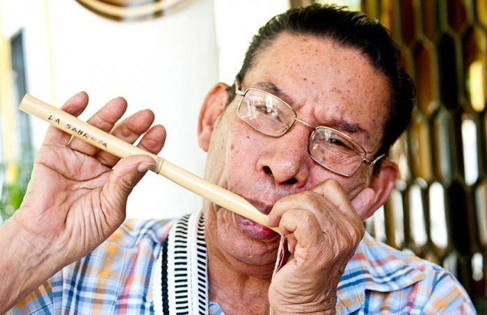 Pedro Remaya tocando la Flauta. Edwin Padilla/ Archivo FNPI