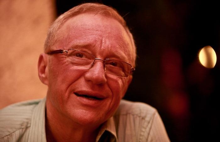 David Grossman en el Hotel Santa Clara durante el Hay Festival Cartagena. Joaquín Sarmiento/Archivo FNPI