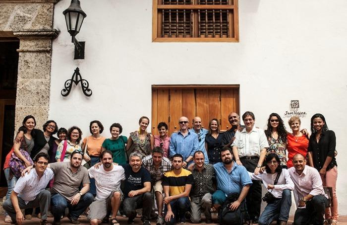 Participantes y maestros de la Beca Gabo 2014. Credito: Joaquin Sarmiento