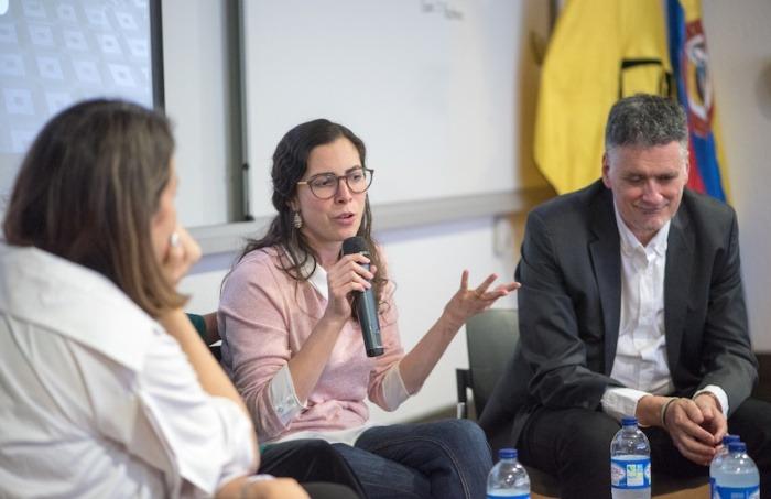 Isabela Ponce (Ecuador) y Miquel Molina (España). Foto: Daniel Gómez / Fundación Gabo.