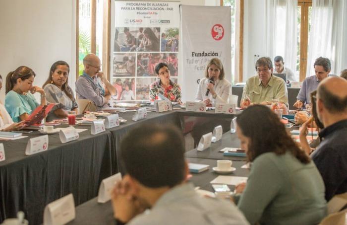 El encuentro con directores y editores de medios de Colombia se realizó en Cartagena, el pasado viernes 31 de enero. Foto: Rafael Bossio / Fundación Gabo.