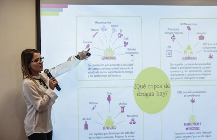 Paula Aguirre, coordinadora de la consultora en temas de derechos humanos Elementa. Foto: Guillermo Legaria / Fundación Gabo.