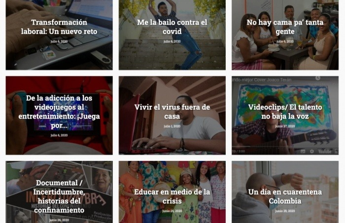 Algunos de los trabajos destacados en el especial #NoSomosLosMismos, de la Red Colombiana de Periodismo Universitario.