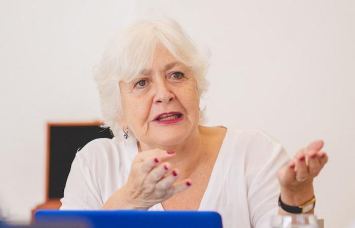 Mónica González en la reunión del Consejo Rector de la Fundación Gabo en 2019. Foto: Archivo Fundación Gabo.