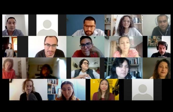 Captura del taller virtual, dirigido por Óscar Martínez y Ginna Morelo.