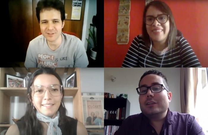 Arriba: Gustavo Faleiros, Nelly Luna. Abajo: Noelia Esquivel, Antonio Paz.