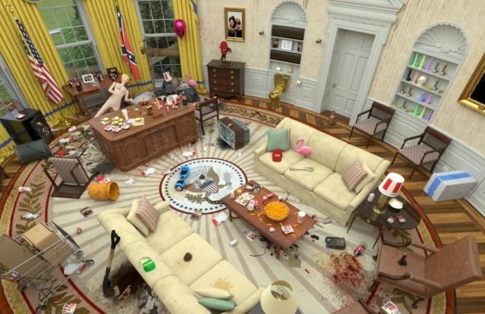 ¿En realidad la Oficina Oval también fue objeto de saqueos durante los disturbios del 6 de enero?