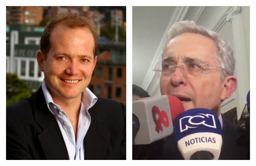 Daniel Samper Ospina y Álvaro Uribe. Fotos: Facebook / Twitter.