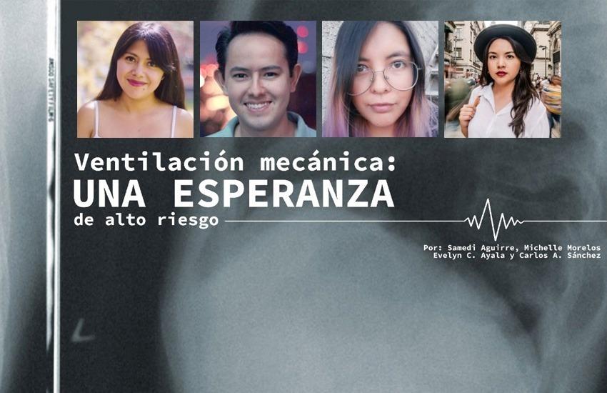 El equipo de Animal Político que llevó a cabo la investigación, conformado por Michelle Morelos, Samedi Aguirre, Carlos Sánchez y Evelyn Ayala.