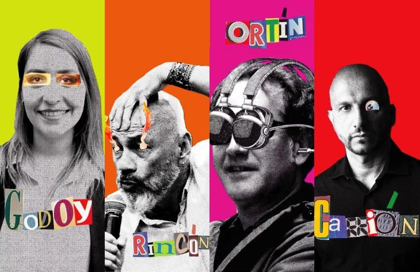 Paty Godoy, Omar Rincón, Pere Ortín y Jorge Carrión son los comunicadores detrás de Curarnos. Foto: Cortesía.