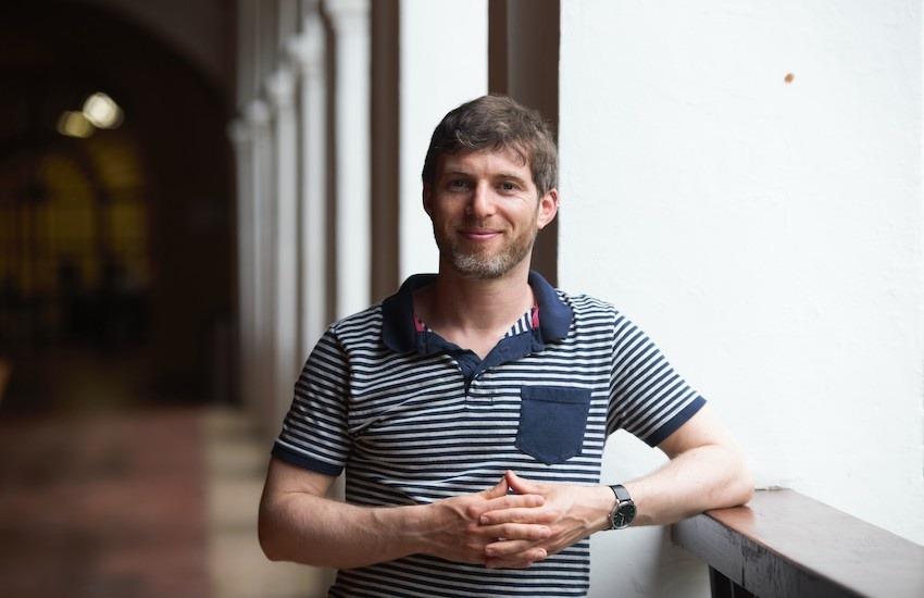 Gregory Scruggs, durante el primer taller de periodismo de soluciones en Cartagena, en 2019. Foto: Emmanuel Upegui.