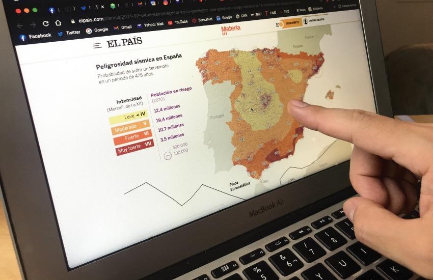 El País se ha tomado en serio la visualización de datos en de mapas y elementos georreferenciados.