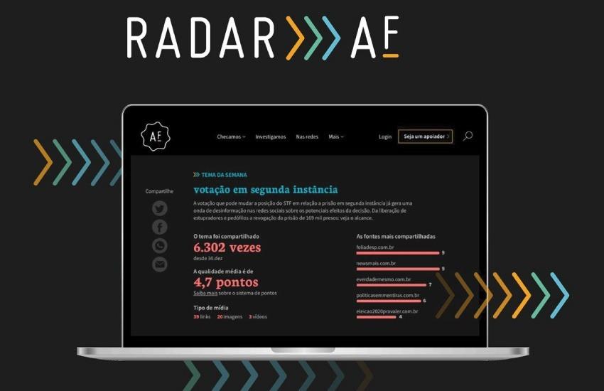 Radar Aos Fatos analiza un promedio de 90 mil publicaciones semanales.