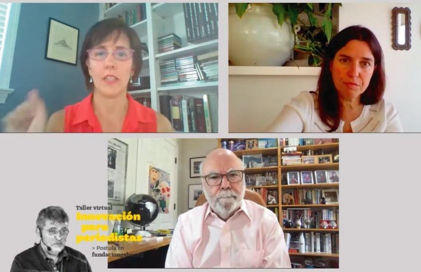 Marina Walker y Flor Coelho conversaron con Rosental Alves durante el seminario web.