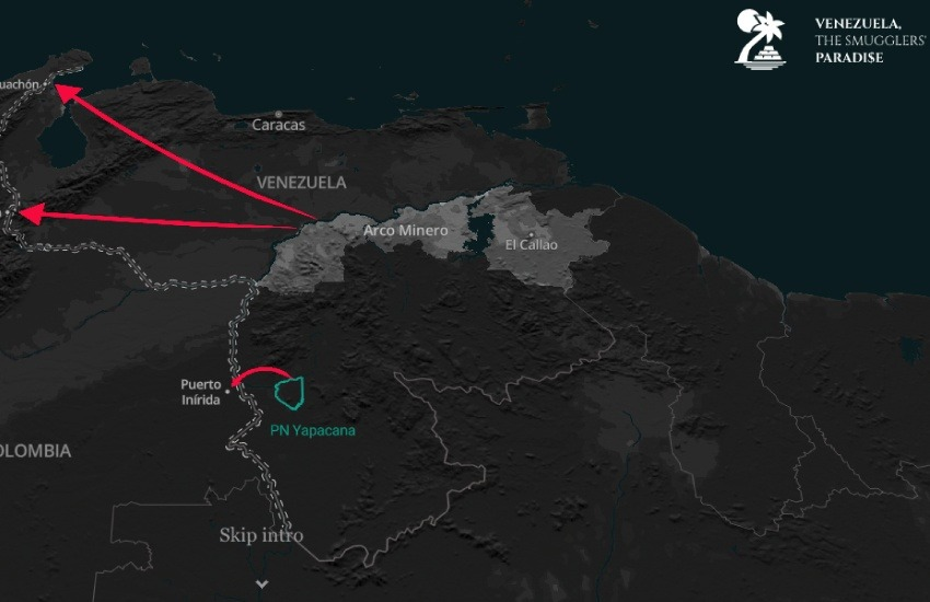 El reportaje rastreó las rutas de contrabando que llegan a Estados Unidos, Europa y Medio Oriente.