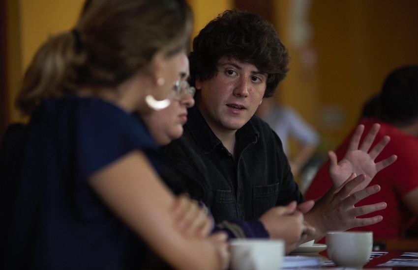Fabrice Le Lous es un periodista francés radicado en Centroamérica. Foto: Emmanuel Upegui - FNPI.