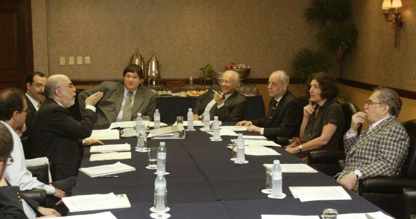 Javier Darío Restrepo en Monterrey, México, como parte del Consejo Rector del Premio Cemex - FNPI.