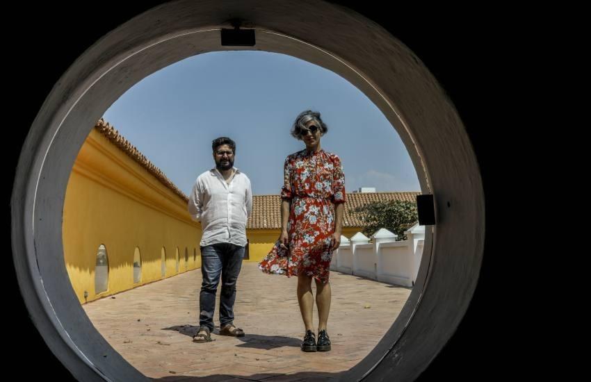 Santiago Caicedo y Paola Gaviria en el FICCI. Foto: Joaquín Sarmiento.