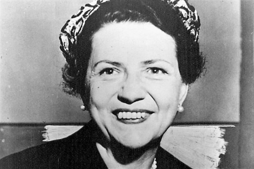 Doris Fleeson, primera periodista mujer en cubrir una elección presidencial.