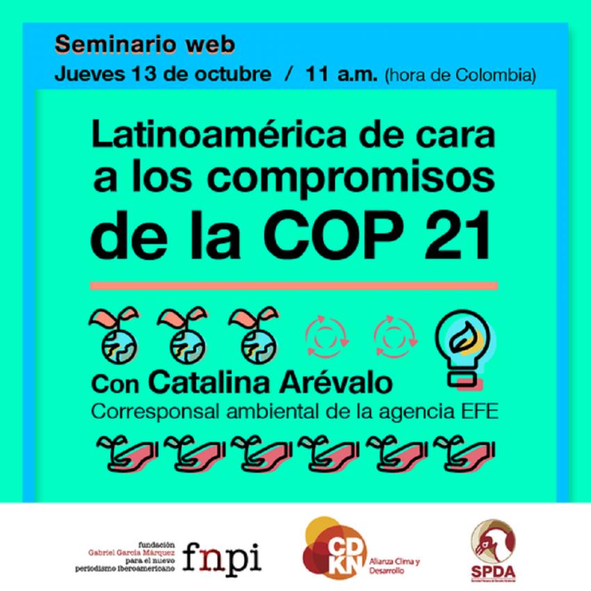 Seminario web: Latinoamérica de cara a los compromisos de la COP 21