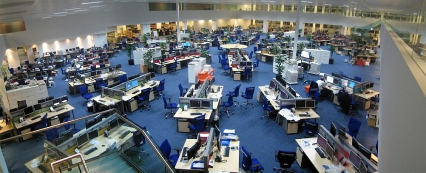 """""""Newsroom"""" / Fotografía: David Sim en Flickr / Usada bajo licencia Creative Commons"""