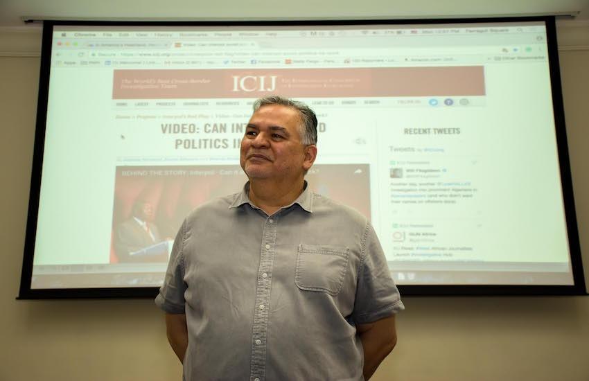 Ricardo Sandoval Palos, maestro del taller Reportaje sonoro y temas urbanos. Foto: Roberto Osorio.