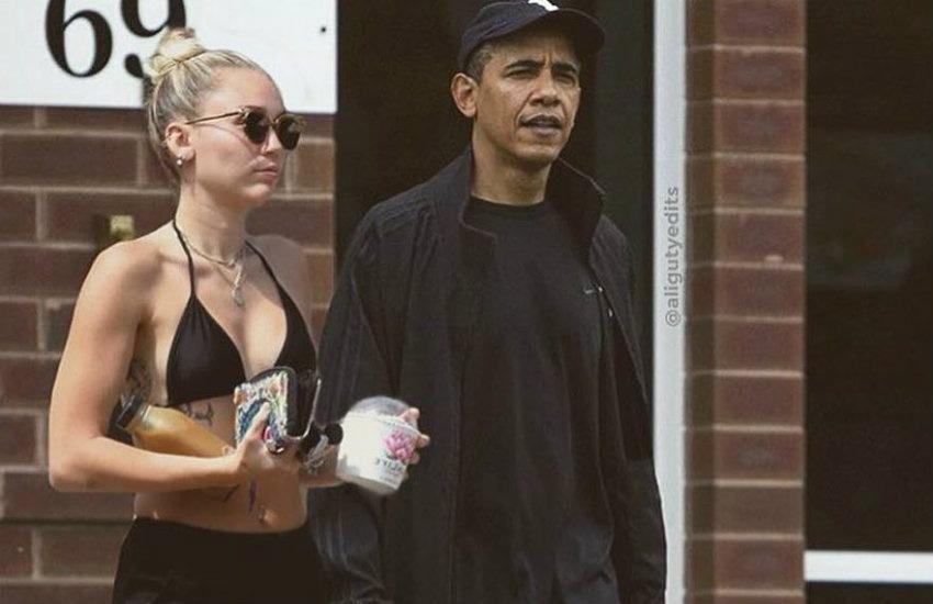 ¿Es auténtica esta fotografía de Miley Cyrus y Barack Obama?... ¡Responde nuestro quiz de noticias!