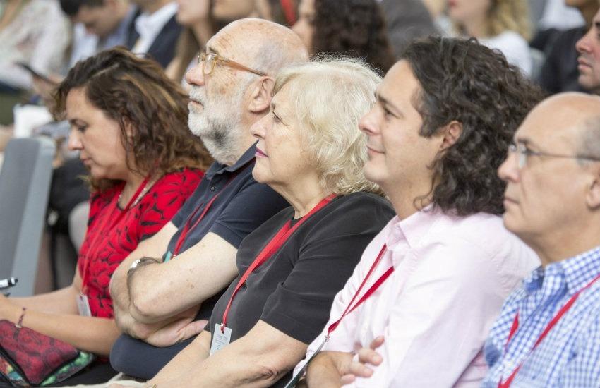 Jurados y finalistas del Premio Gabo 2017. De izquierda a derecha: Marcela Turati, Adelino Gomes, Mónica González y Martín Rodríguez Pellecer   Fotografía: David Estrada.