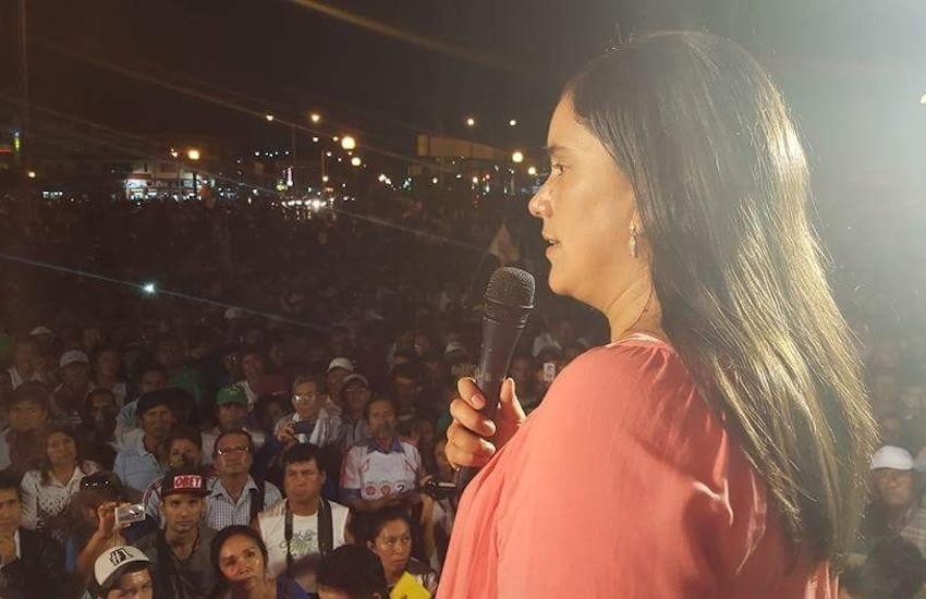 La candidata presidencial peruana Verónika Mendoza | Tomada de su perfil de Facebook